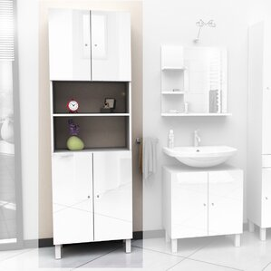 60 x 190cm free standing tall bathroom cabinet - Bathroom Cabinets Tall