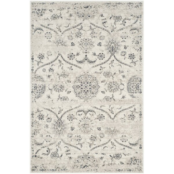 Joana Cream/Light Gray Area Rug by One Allium Way