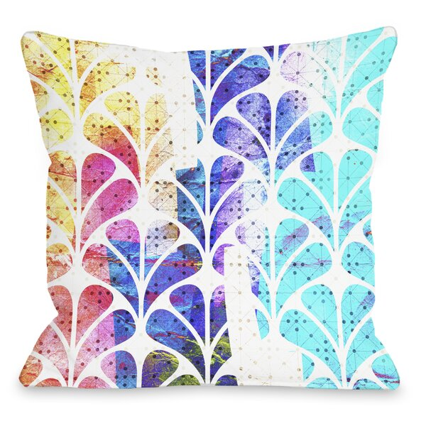 Flower Bomb Throw Pillow by One Bella Casa