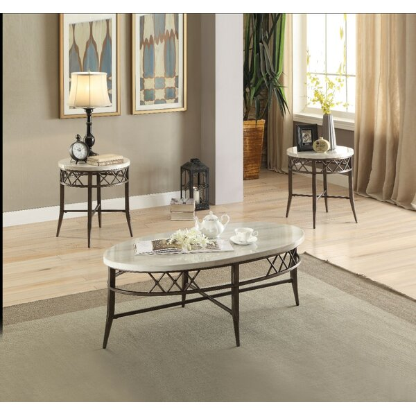 Kliebert Metal 3 Piece Coffee Table Set by Alcott Hill