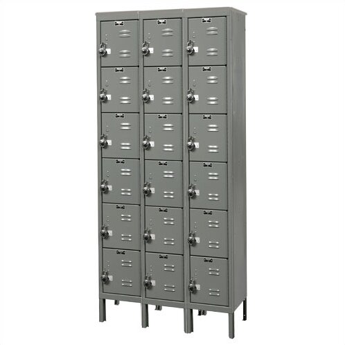 ReadyBuilt 6 Tier 3 Wide Employee Locker by Hallowell