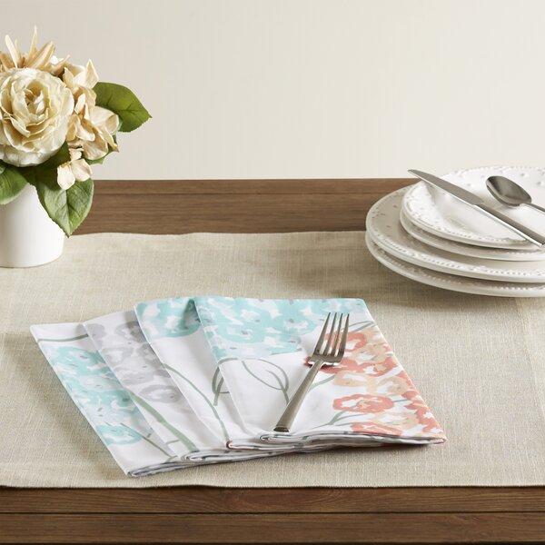 Pellegrino Hydrangeas Floral Print Napkin (Set of 4) by Three Posts