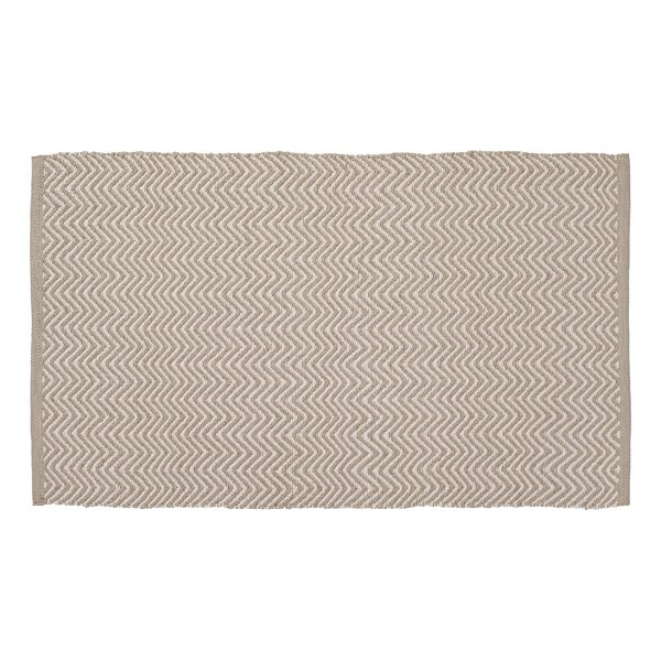 Herringbone Hand-Woven Beige/Cream Indoor/Outdoor Area Rug by Home Furnishings by Larry Traverso