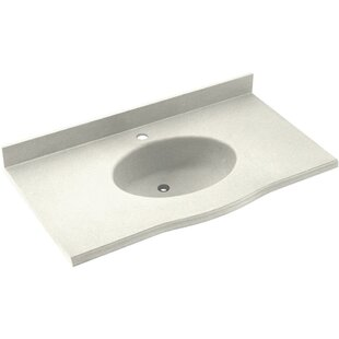 Compare & Buy Europa Solid Surface 61 Single Bathroom Vanity Top BySwan