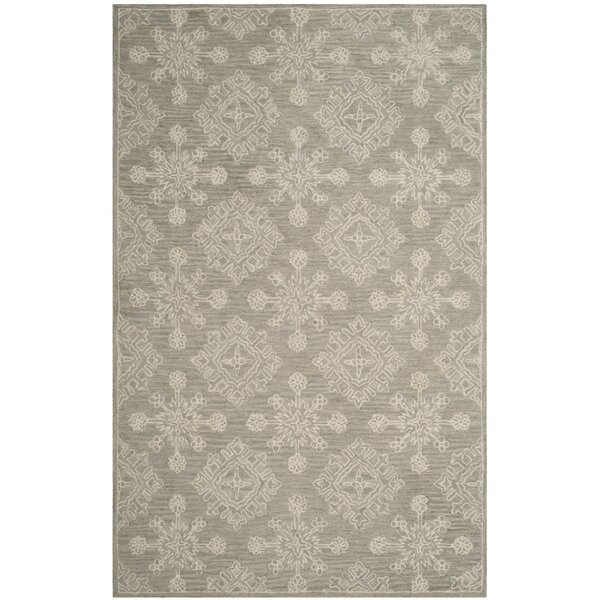 Skyla Hand-Tufted Light Beige Area Rug by Ophelia & Co.