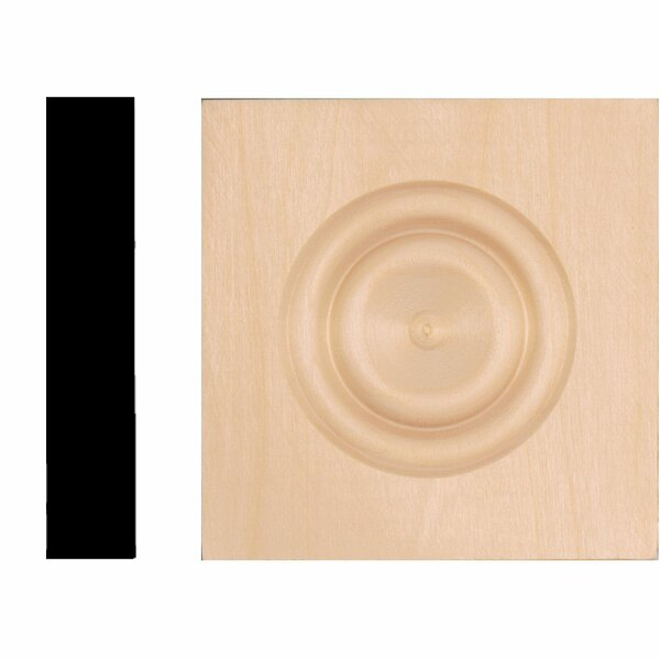 4-1/2 in. x 4-1/2 in. x 7/8 in. Hardwood Rosette Block Moulding by Manor House
