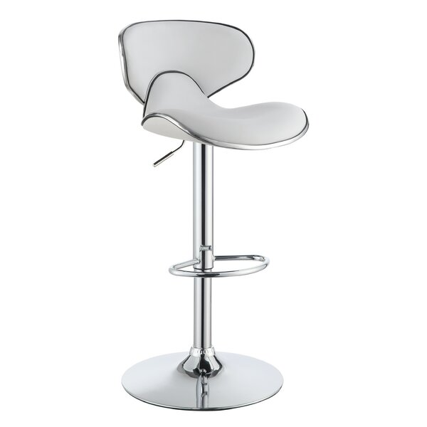 Kreider Adjustable Height Bar Stool by Orren Ellis