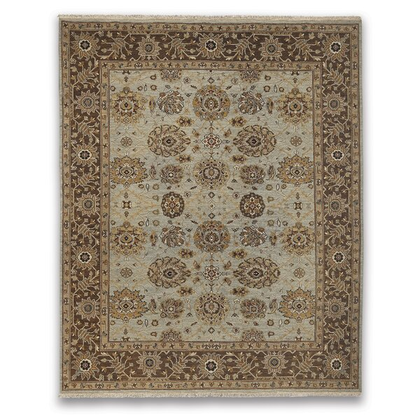Cowden Light Blue/Brown Area Rug by Alcott Hill