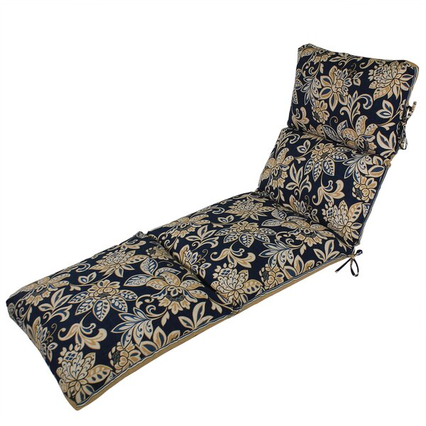 Channeled Reversible Indoor/Outdoor Chaise Lounge Cushion by Comfort Classics Inc.