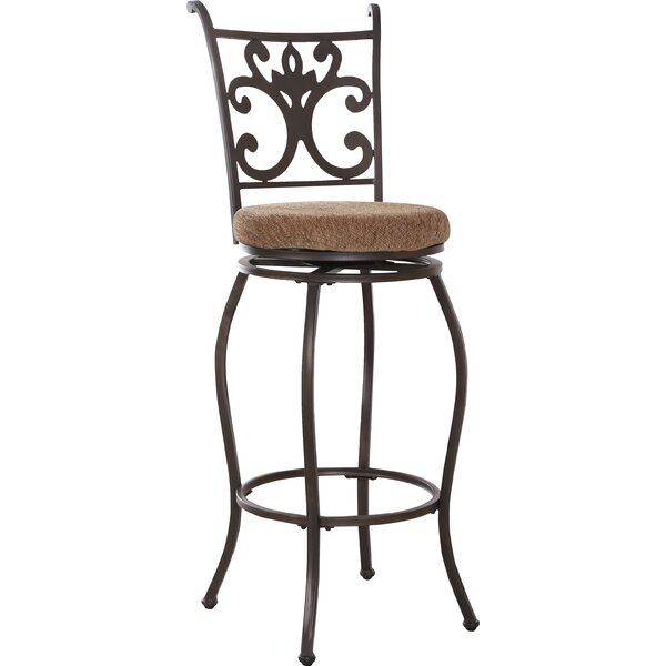 Burbank Swivel Bar Stool by Red Barrel Studio