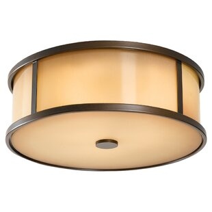 Shop for Espana 2-Light LED Outdoor Flush Mount By Millwood Pines
