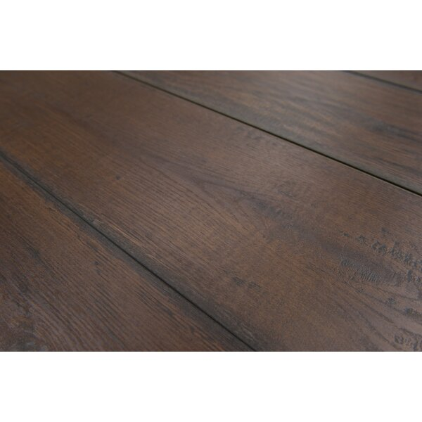Geneva 9 x 48 x 12mm Oak Laminate Flooring in Dark Brown by Branton Flooring Collection