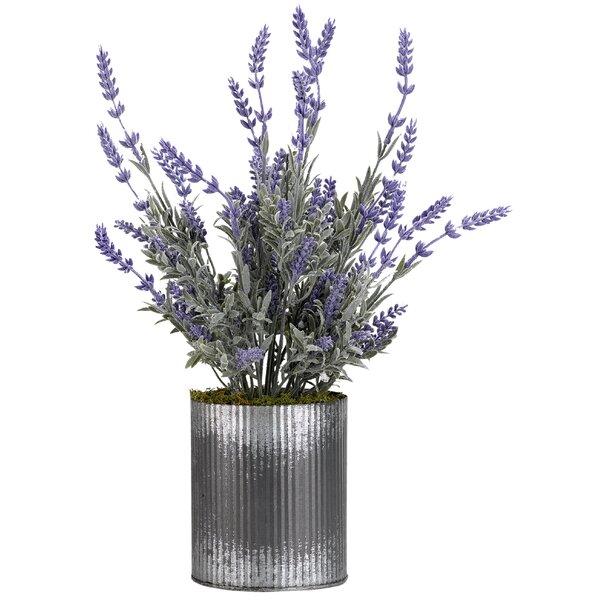 Lavender Floral Arrangement in Planter by Ophelia & Co.
