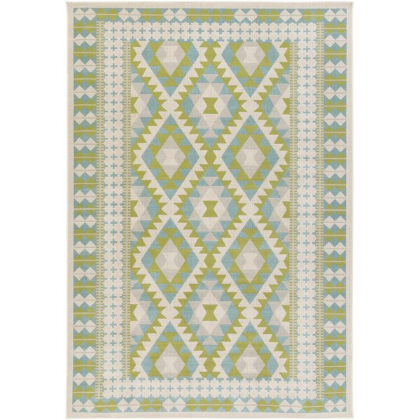 Agosto Green/Blue Area Rug by Loon Peak