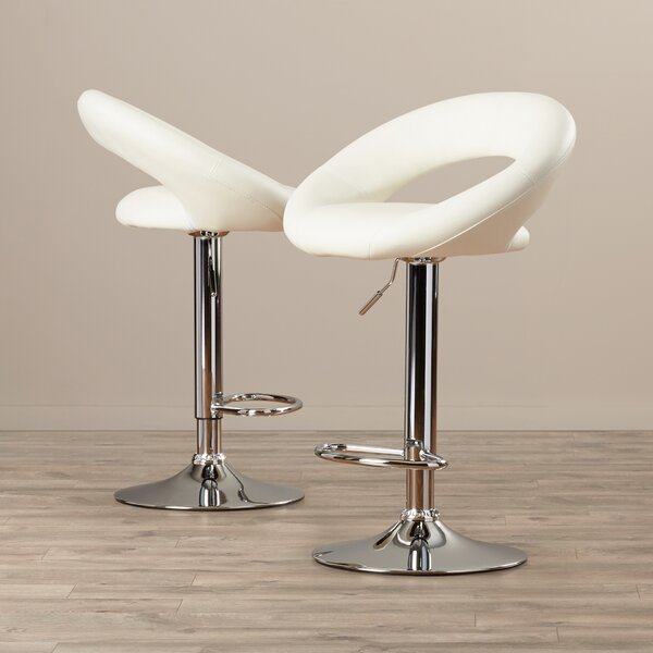 Derrick Adjustable Height Swivel Bar Stool (Set of 2) by Wade Logan