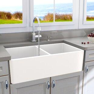 Kitchen sinks youll love wayfair cape 33 x 18 double basin farmhouse kitchen sink workwithnaturefo
