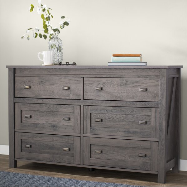 Modern  Minchinhampton 6 Drawer Double Dresser By Three Posts Today Only Sale