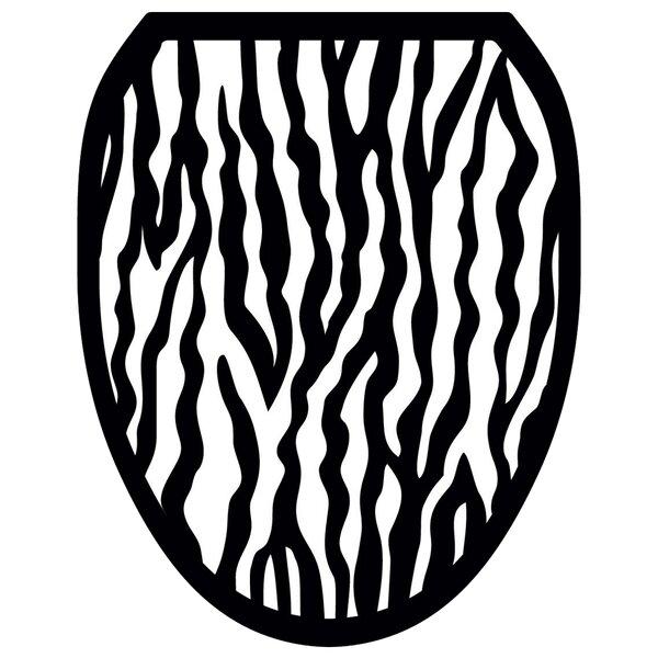 Zebra Toilet Seat Decal by Toilet Tattoos