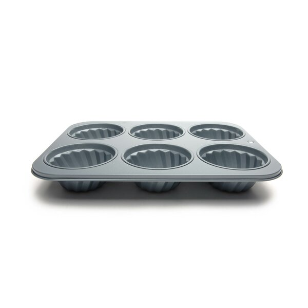 Non-Stick 6 Cup Fluted Muffin Pan by Fox Run Brands