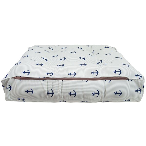 Sicilian Bed Navy Anchor Pillow by Bessie and Barnie