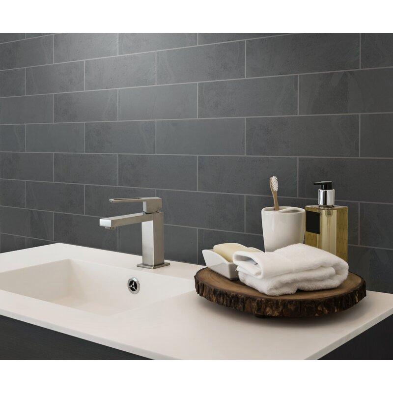Msi Montauk 4 X 12 Slate Subway Tile In Black Reviews Wayfair