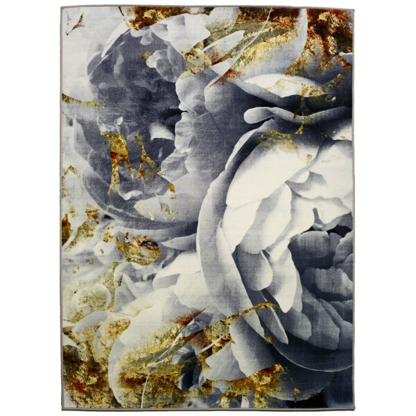 Marlinne Her Peony Garden Area Rug by House of Hampton
