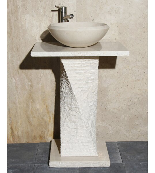 Stone 24 Pedestal Bathroom Sink by Allstone Group