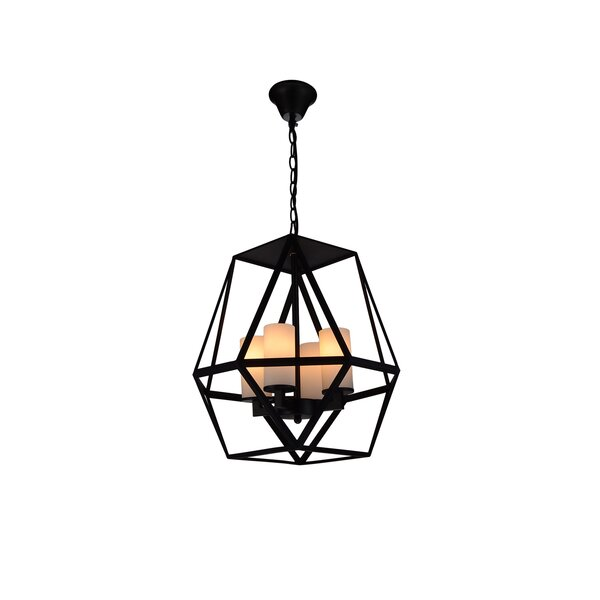 Overbey 4-Light Unique / Statement Geometric Chandelier By Wrought Studio
