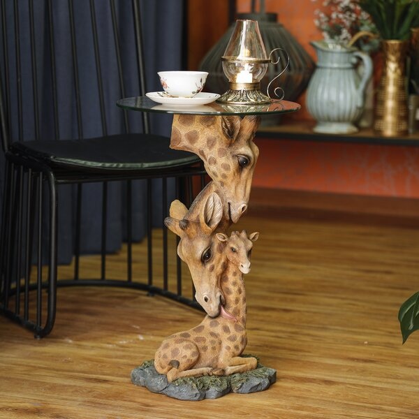 Rhoades Giraffe Family End Table by World Menagerie