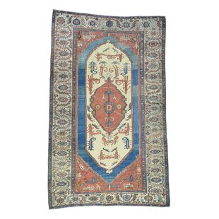 One-of-a-Kind Dunnigan Original Persian Good Cond Hand-Knotted Red Area Rug
