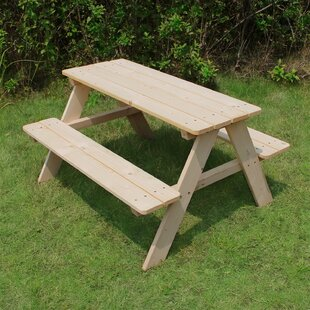Kidu0027s Wood Picnic Table. By Atlantic Outdoor