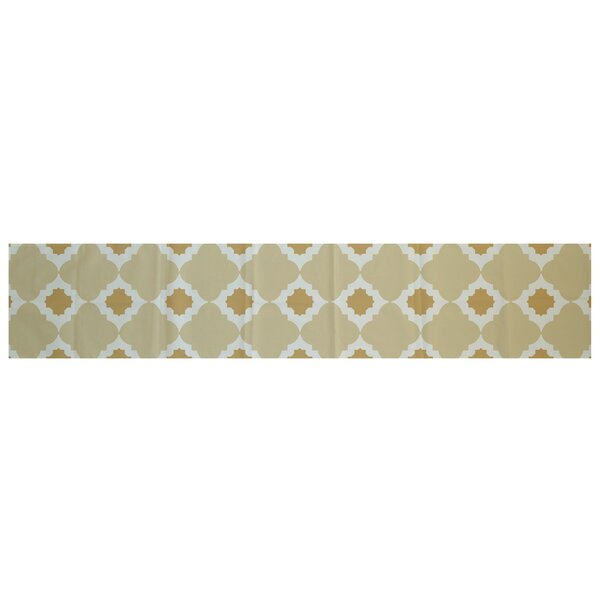 Nikhil Geometric Print Table Runner by Bungalow Rose