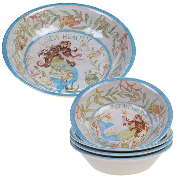 Griffin Salad Bowl Set (Set of 5) by Rosecliff Heights