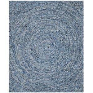 Ikat Dark Blue Area Rug