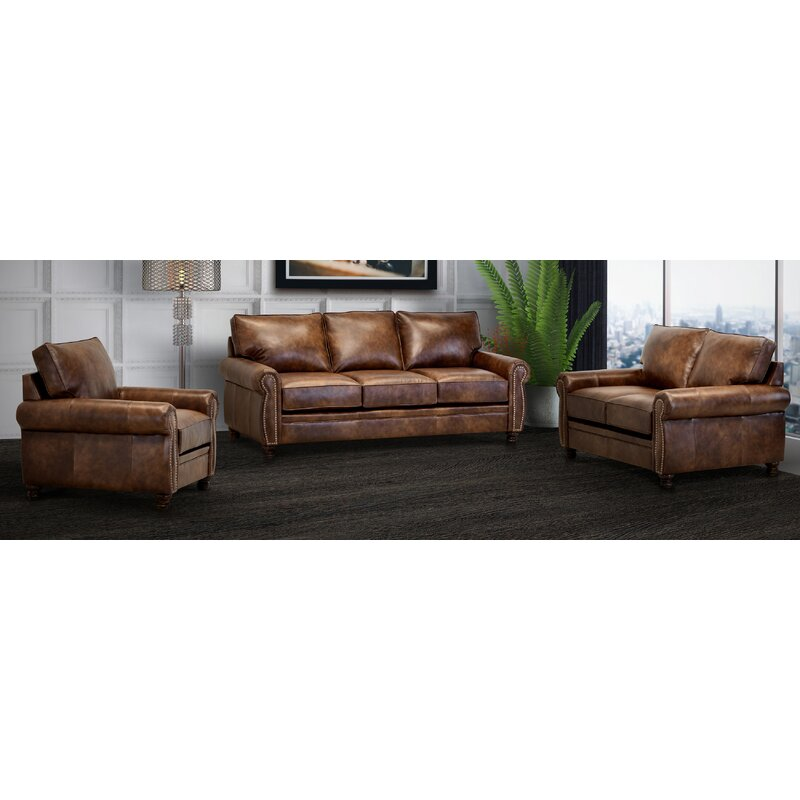 Usa Ghonge Brown Top Grain Leather Sofa