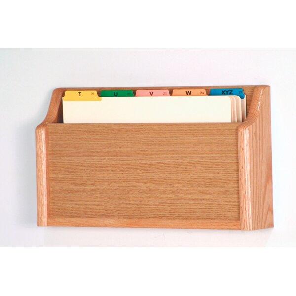 Single Pocket Square Bottom Legal Size File Holder by Wooden Mallet