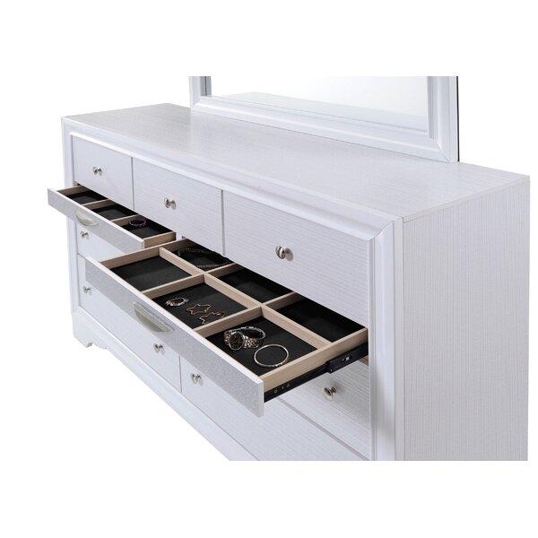 Cecelia 9 Drawer Dresser with Jewelry Drawers by Rosdorf Park