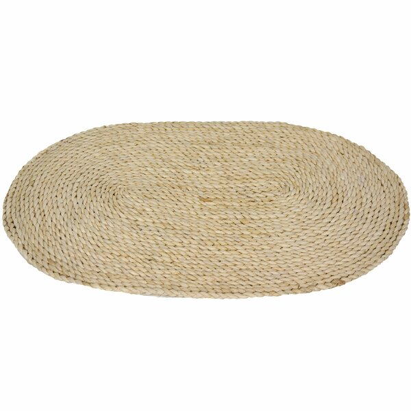 Maize Natural Oval Area Rug by Oriental Furniture