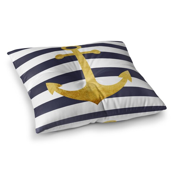 Vella Anchor Outdoor Floor Pillow by Longshore Tides