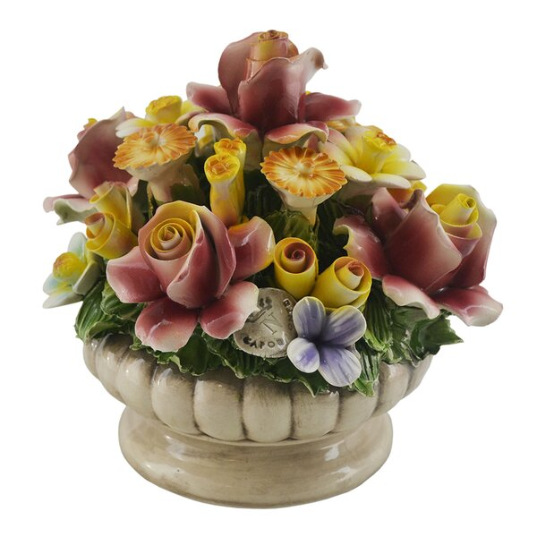 Flower Blooming Bouquet in Pot by August Grove