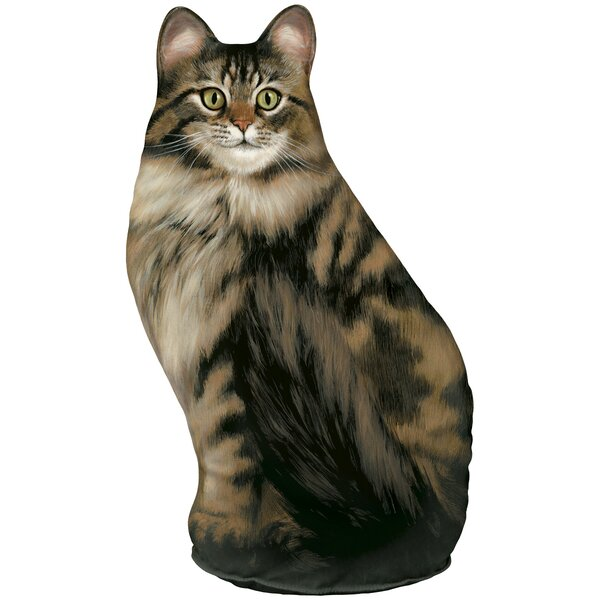Long-Haired Tabby Cat Fabric Door Wedge by Fiddler's Elbow