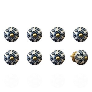 Handpainted Round Knob (Set of 8)