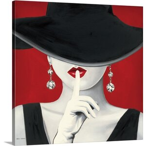'Haute Chapeau Rouge I' by Marco Fabiano Painting Print on Wrapped Canvas by Great Big Canvas