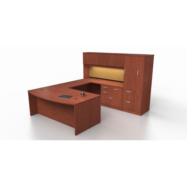 Intrinsic 4 Piece U-Shape Desk Office Suite with Tower Suite by Trendway