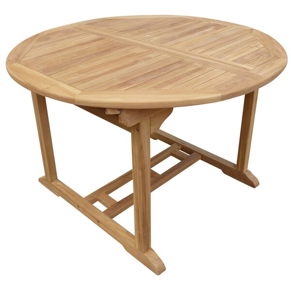 Cosper Round Extendable Teak Dining Table by Highland Dunes