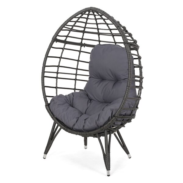 Reese Wicker Teardrop Swing Chair by Bloomsbury Market