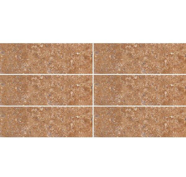 4 x 12 Travertine Field Tile in Walnut Honed by Parvatile