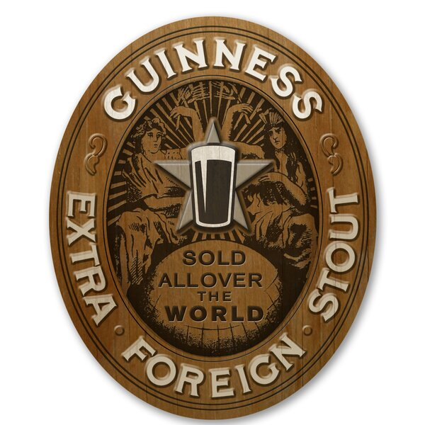 Guinness Oval Extra Stout Wall Décor by PB