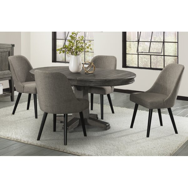 Padiham 5 Piece Extendable Solid Wood Dining Set by Alcott Hill