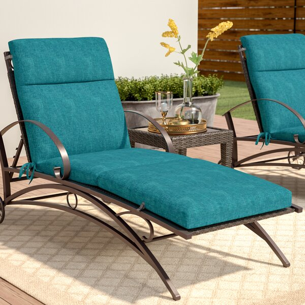 Indoor/Outdoor Chaise Lounge Cushion by Three Post